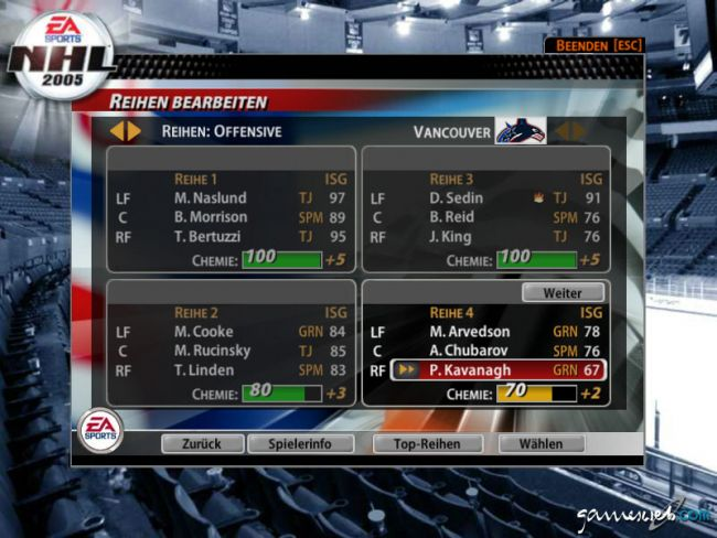 NHL 2005  Archiv - Screenshots - Bild 5