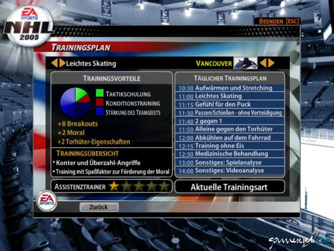 NHL 2005  Archiv - Screenshots - Bild 11