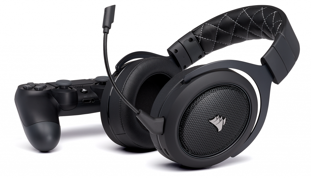 corsair hs70 wireless neue kabellose headsets f r ps4 und. Black Bedroom Furniture Sets. Home Design Ideas