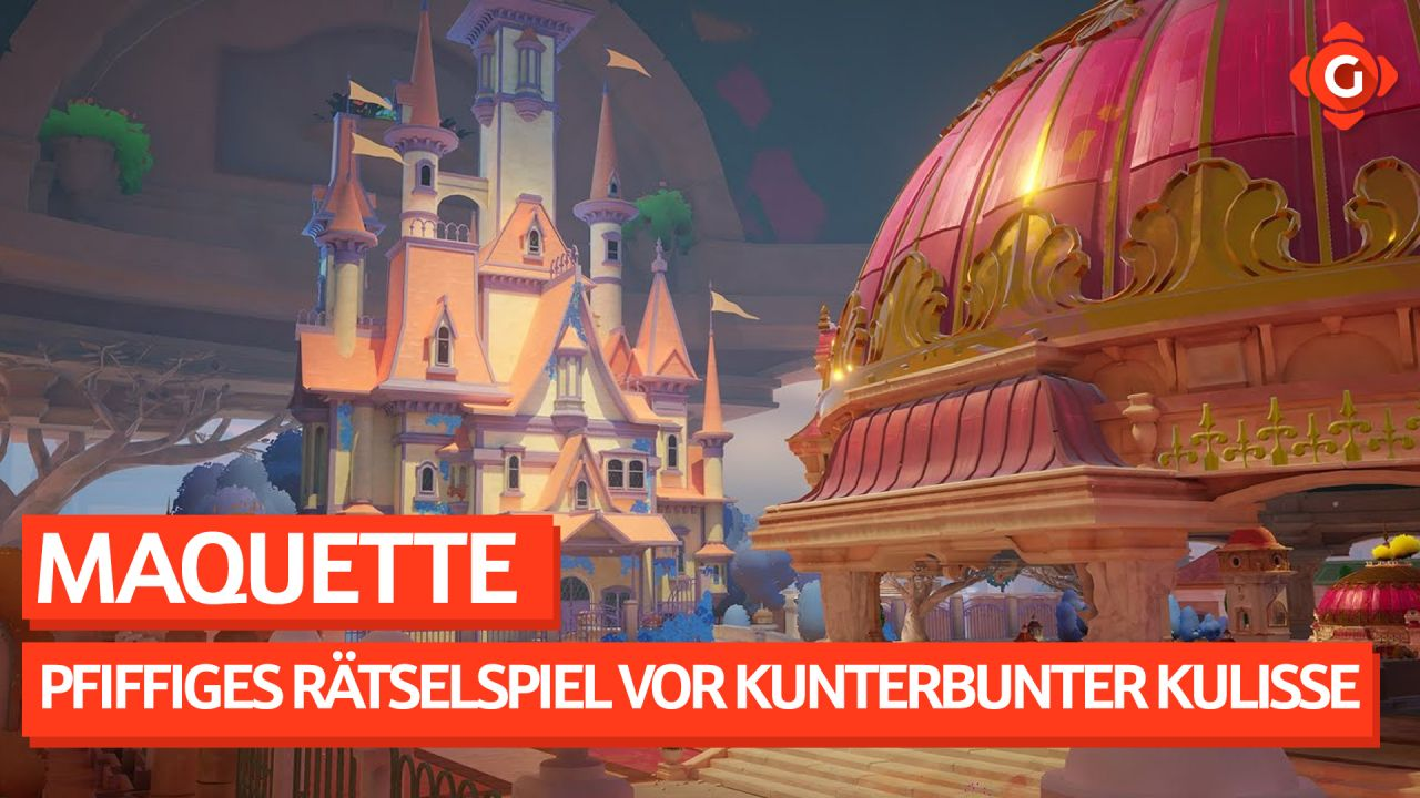 Pfiffiges Rätselspiel vor kunterbunter Kulisse. - Video-Preview zu Maquette