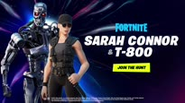 Fortnite - Sarah Conner and the T-800 Arrive Through the Zero Point